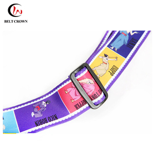 Most popular metal buckle luggage strap/dye sublimation luggage belt
