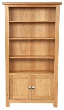 hoge brede houten boekenkast eikenboekenkast met lade mad10