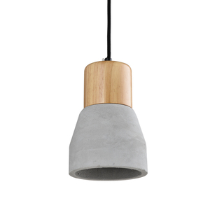 New Decorative Hanging Pendant Light Concrete With Wooden Industrial Vintage Pendant Light