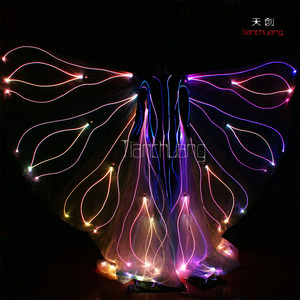 Programmable Butterfly Isis Wings For Dancing, Stilt Walker LED Wing Costume