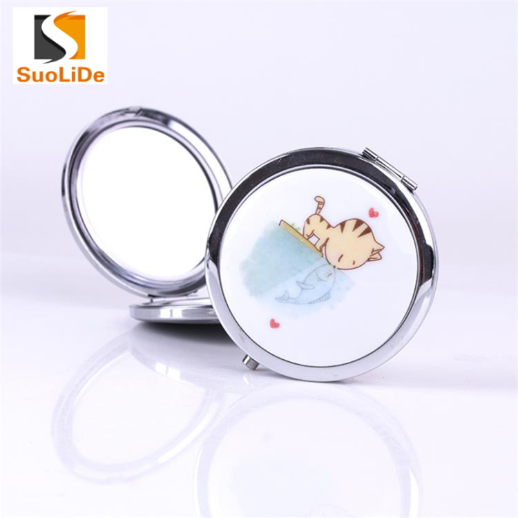 Fashion Chinese ceramic creative daily use trendy woman makeup mirror
