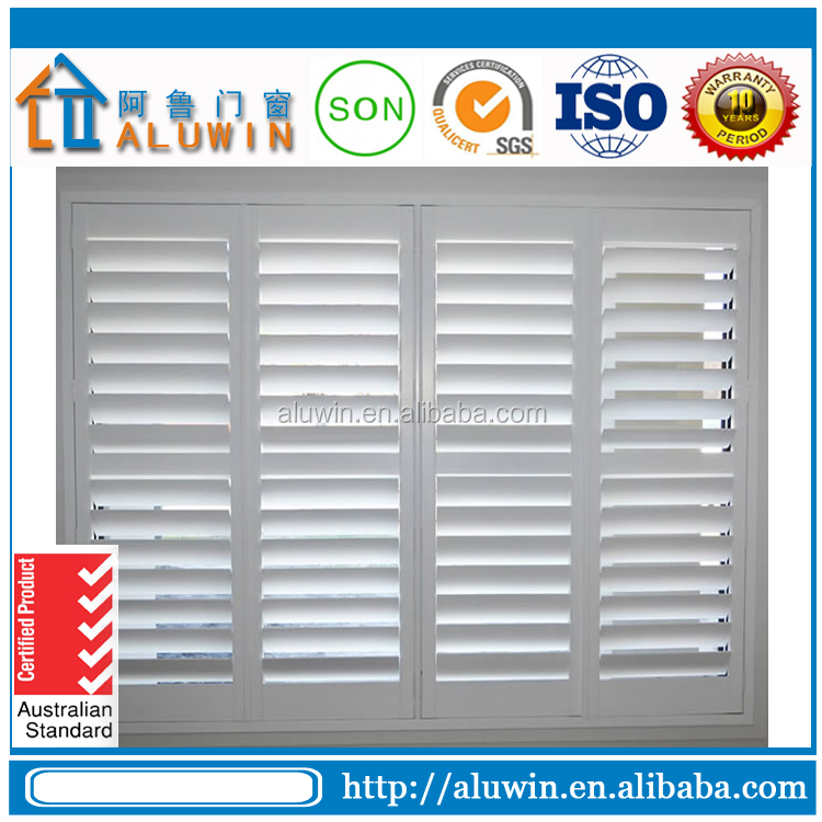 aluminum security fixed shutters windows