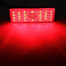 2017 NEW LED Reflector Red Rear Tail Brake Stop Marker Light Truck Trailer Motorcycle