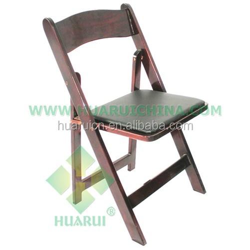 Blanco muebles de comedor, evento silla plegable de madera para ...