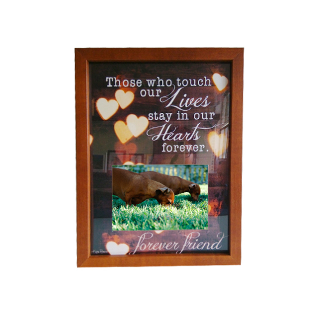 MDF wooden memory keeper personalized Photo picture frame 20x25cm