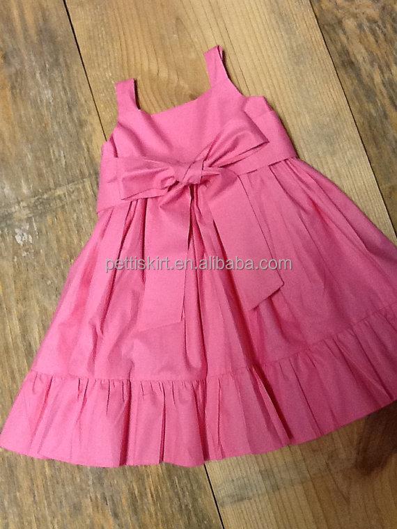 Plain Style Kids Girls Halter Frock Design Bowknot Ruffle Boutique ...