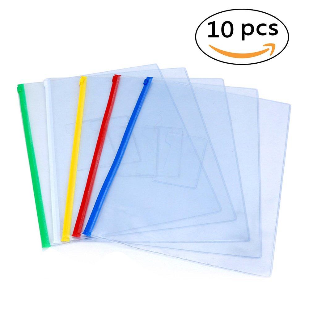 2042dd8c70f8 Buy EzSos Zip Envelope, Waterproof PVC A4 File Bag, Seamless Slider ...