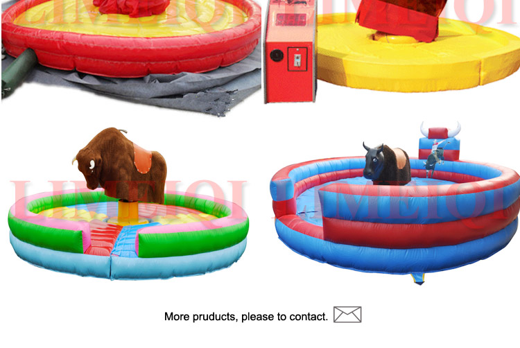 2017 Adults and kids riding inflatable mechanical rides for sale rodeo inflatable bull ride machine for sale