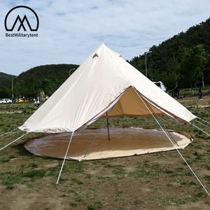 Luxury Glamping Canvas Wall Tent Waterproof