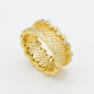 rings jewelry women design gold plated 925 sterling silver ring