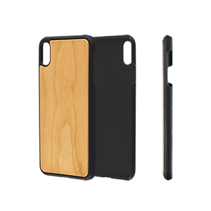 Wholesale Custom Plain Cherry Mobile Accessories Wood Phone Case Back Cover For iPhone XS