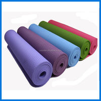 Custom Printed Natural Rubber Yoga Mat with Mesh / PU / Fabric surface ,Yoga pilate mat,Fitness mat