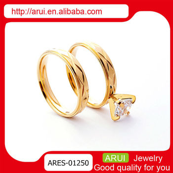 Top Selling Wholesale Fashion Jewelry Dubai Gold Diamond Couple