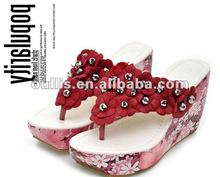 women high platform flip flops sandals designer 2012 cheap fashion shoes X97