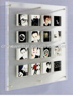 Wall Mounted Acrylic Magnetic Photo Frame Product On