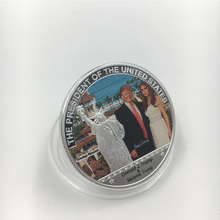 24 k Vergulde Munt Amerikaanse 45th President Donald Trump Coin AMERIKAANSE Witte Huis De Vrijheidsbeeld Collection Business Gift