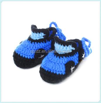 1 pair hand crochet baby unisex boys girls cartoon cars crib shoes
