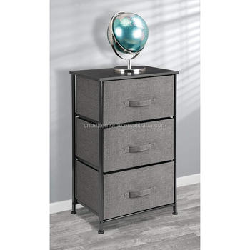 BSCI Extra-wide Dressing Table Storage Tower Sturdy Steel Frame Wooden Top Easy Pull Cloth Box My Bedroom Dressing Table