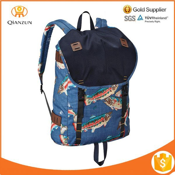 Custom canvas backpack patterns hiking backpack in design pattern