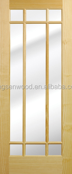 9 Glass Lite Natural Pine Door