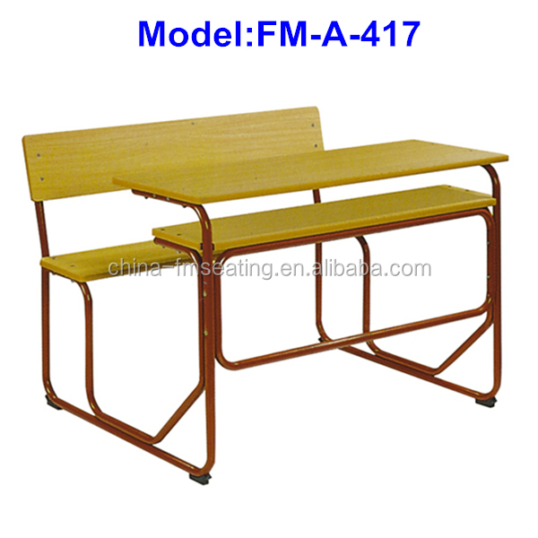 Bench Design Connected Study Table Chair No.fm-a-417