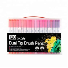 Durable Using Low Price Tow Tip Watercolour Brush Pen Art Markers