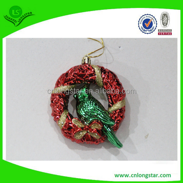hanging christmas rattan ornament,decorative laser cut christmas bird,colorerd fillable christmas ball ornaments