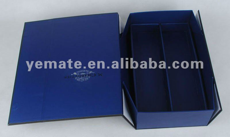 Blue color Paper book shape folding box, paper purse shaped boxes, paper novelty shaped boxes