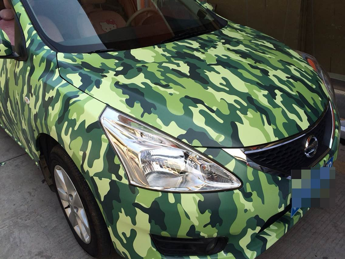 Get Quotations · Car Styling Wrap Camo Car Vinyl Film Body Sticker Car Wrap  With Air Free Bubble For 831c6cad2367