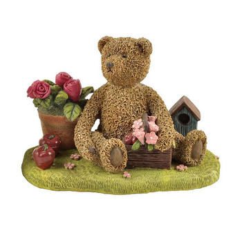 Custom high quality resin cute animal bear figure statue for home decoration