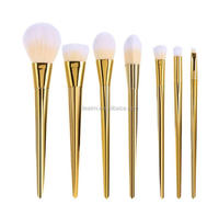 2017 Wholesale Cheap Make Up Brush Fashion 7 Piece Soft Powder Blush Contouring Oval Brush Makeup
