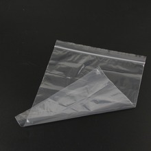 0.05mm PE Clear Self Sealing Zip Lock bag/ Plastic Packaging Bags/White Transparent zipper reclosable packing bag