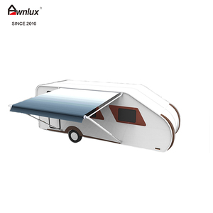 100% waterproof DIY aluminium frame roll out caravan awning sun canopy