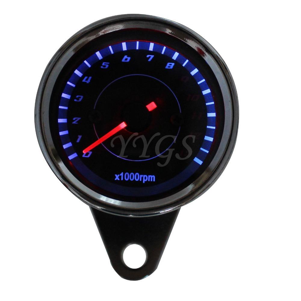 Водонепроницаемый rpm из светодиодов свет датчик тахометр спидометр для Honda Yamaha Kawasaki мотоцикл