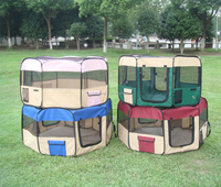 Foldable Pet Playpen, Dog Playpen with Eight Panels