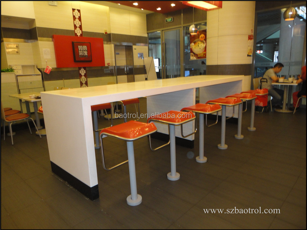 KFC Fast Food Table Custom Size Restaurant High Top Bar Tables