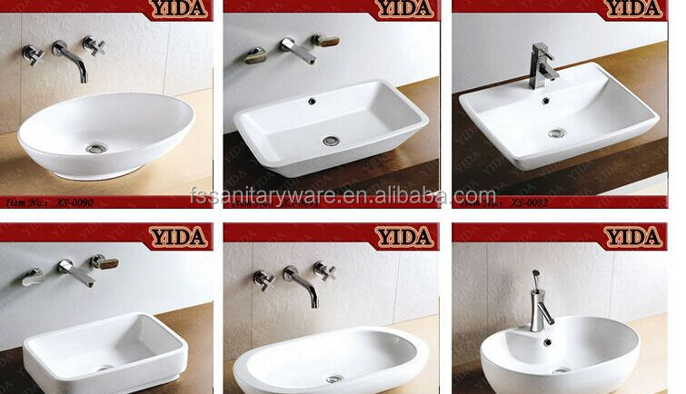 Ceramic Bathroom Sink Wash Basin Gl