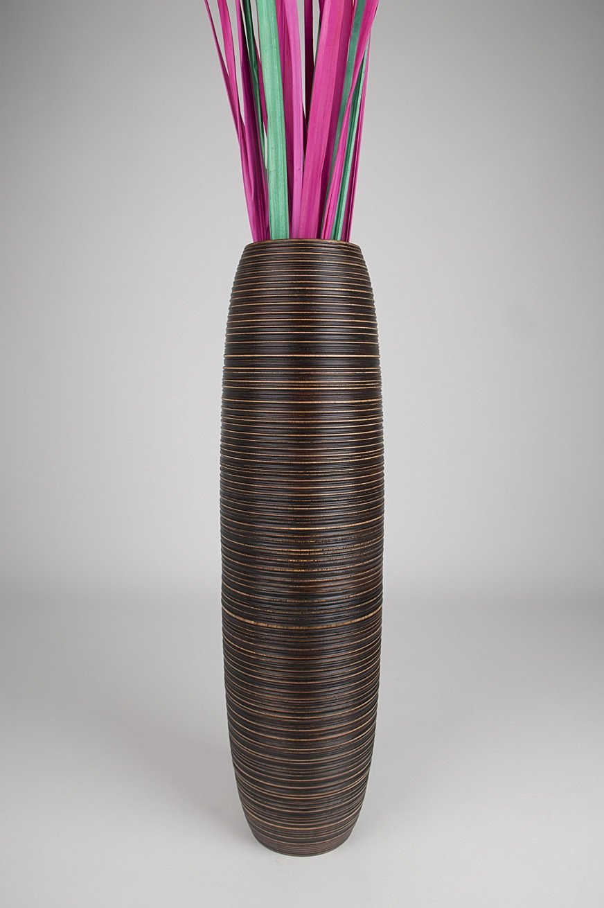 Tall Floor Vase 36 Inches Wood Brown