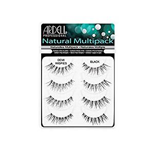 7668cc52222 Get Quotations · 4 Pairs Ardell DEMI WISPIES Natural MULTIPACK False  Eyelashes Fake Lashes