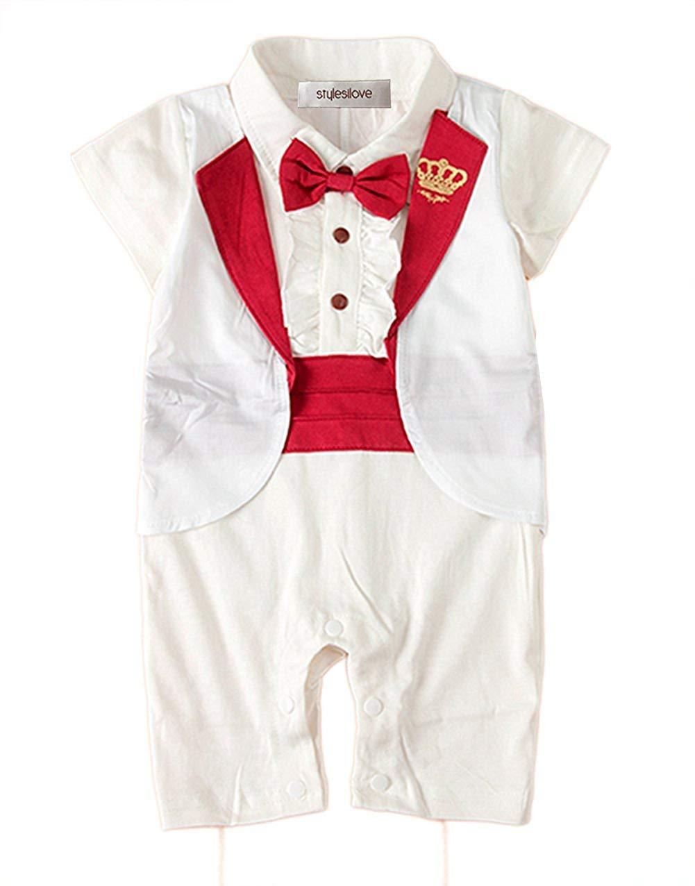 d1e55da20 Buy Stylesilove Baby Boy Faux Tie Gold Buttons Tuxedo Vest in Cheap ...