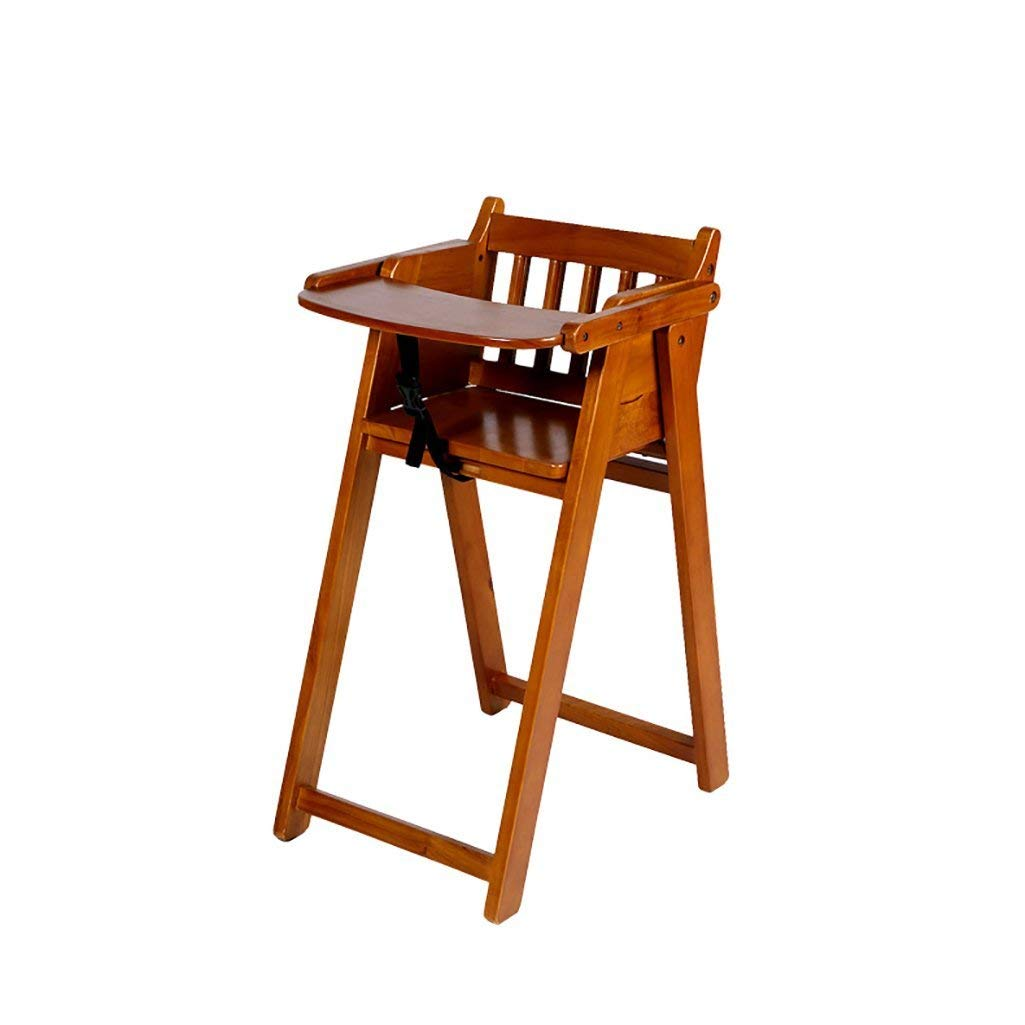 AIDELAI Bar Stool chair- Solid Wood Children Dining Chair Multifunction Portable Folding Wooden Flip Baby Chair Children Eat Chair Saddle Seat