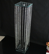 wholesale beautiful drop beads crystal wedding flower stand for cheap sale