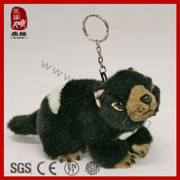 New Product Stuffed Soft Tasmanian Devil Plush Wild Animal Toy Keychain