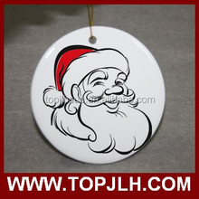 China Supplier Hot Sell White coated ceramic ornaments, wholesale sublimation blank pendants