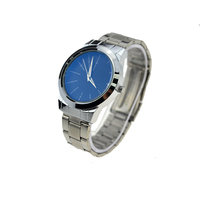 build up your brand blue dial timepiece waterproof stainless steel wrist watches men quartz wholesale reloj minimalist