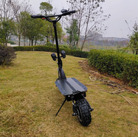 High Speed 80KM H Dual 1600W Motor 100KM Range Dual Suspension Euro Offroad Electric Scooter