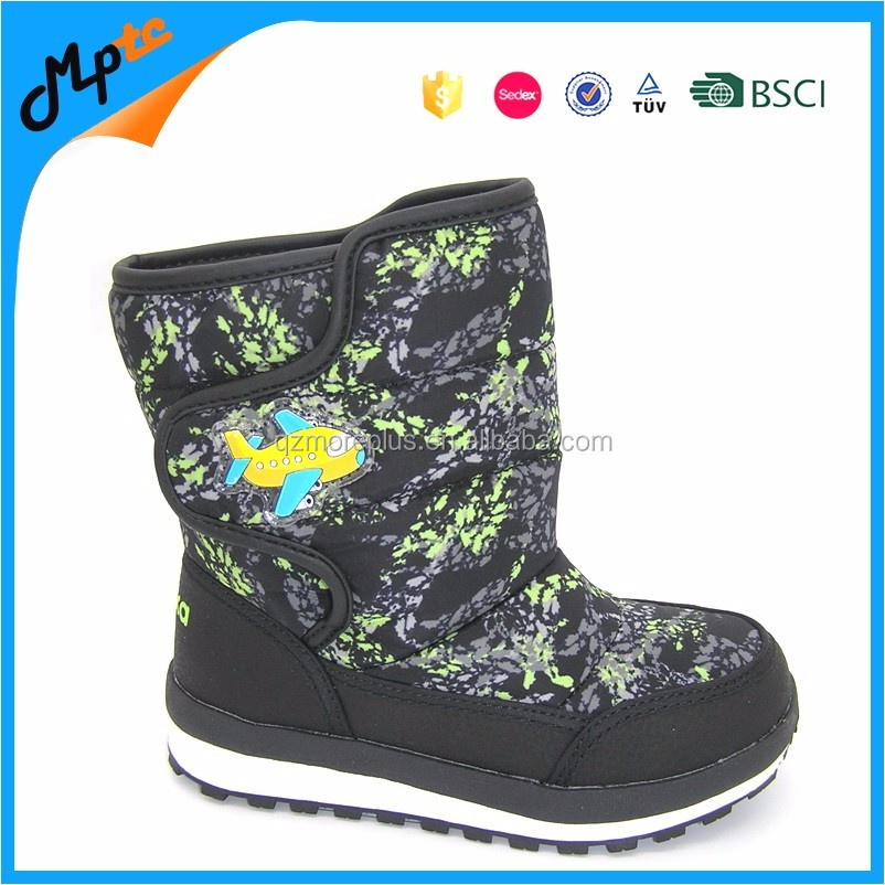Kids Nylon Winter Snow Boots with Warm Plush