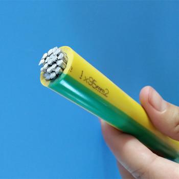 450 750 v vert jaune couleur pvc isol fil daluminium brin fil de