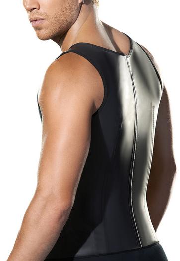 05c2e8ffb6 Male Latex Vest Waist Training Corsets Wholesale Black S M L Xl Xxl ...
