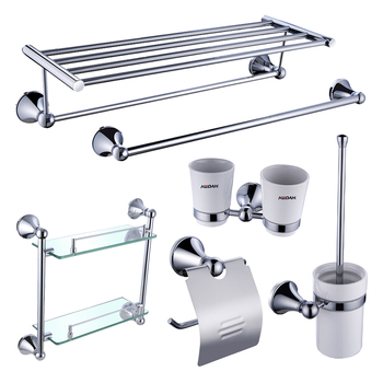 6pcs Hotel 304 Stainless Steel Bathroom Accessory Set Kd 9700